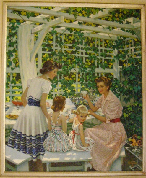 <center>Lunch in the Grape Arbor</center>