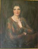 <center>Lillian in Brown Dress, 1946</center>