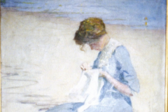 <center>Woman in Blue on the Beach</center>
