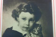 <center>Child and Kitten (Clyde M. Fuller II) Martinsville