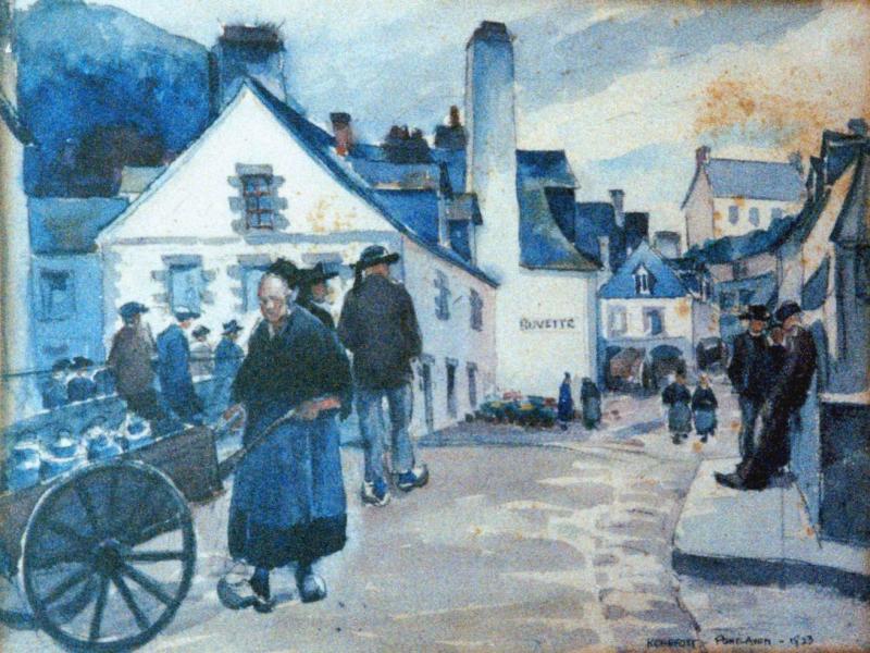 <center>Pont-Aven Market Scene, 1923</center>