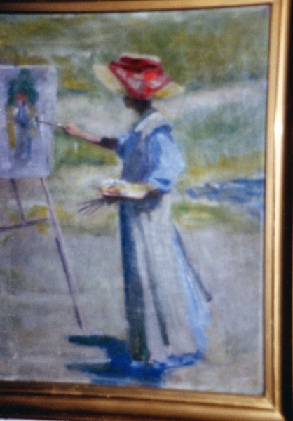 <center>Woman Painting Outdoors</center>
