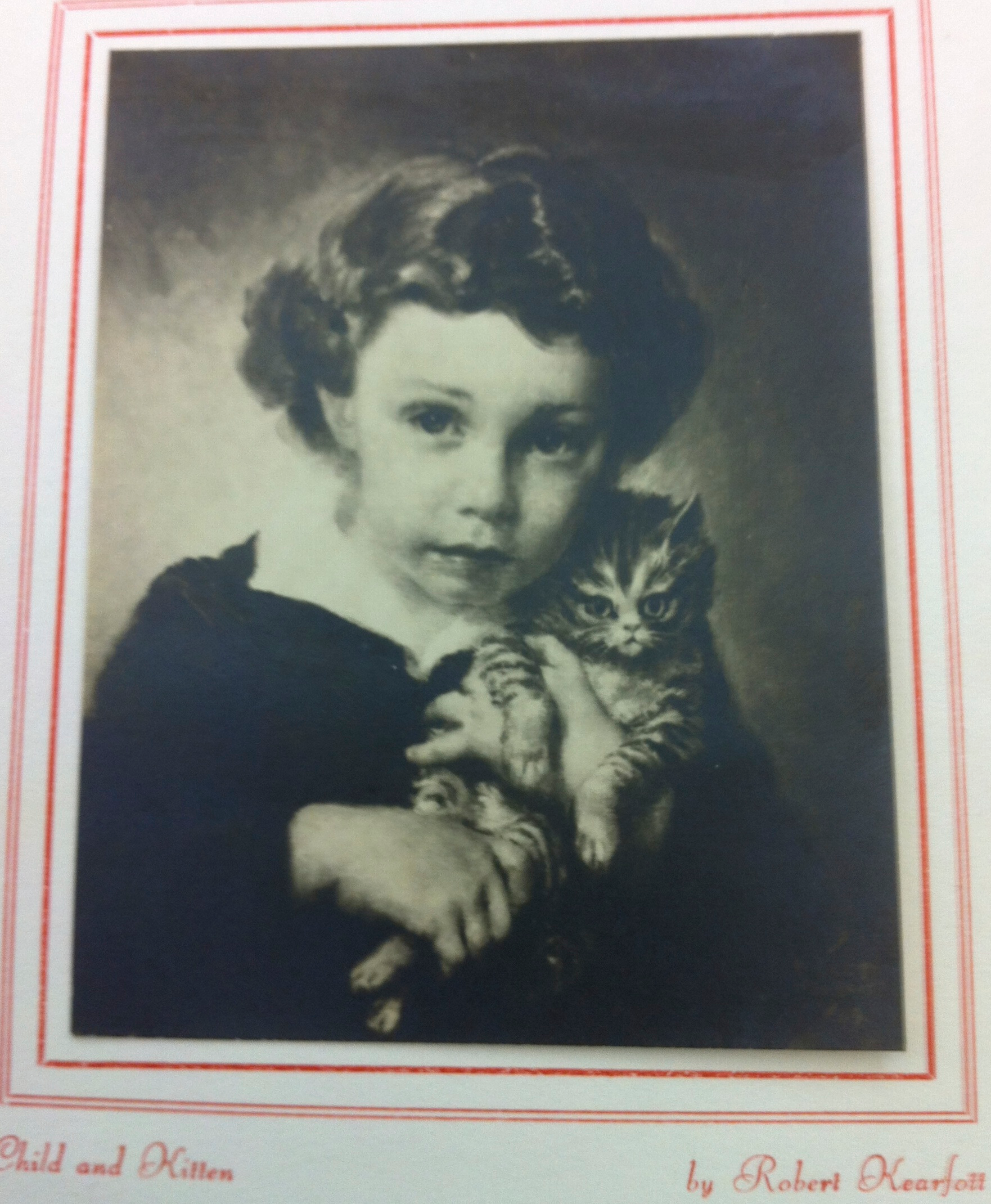 <center>Child and Kitten (Clyde M. Fuller II) Martinsville