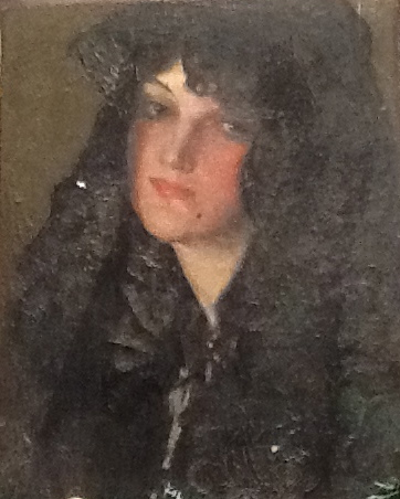 Lady with Mantilla, 1924