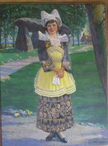 Lillian in Breton costume, Pont-Aven