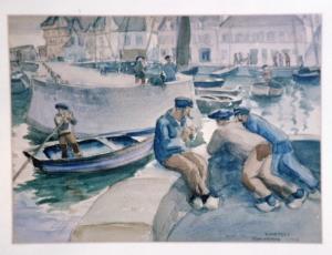 Concarneau Harbor, 1923